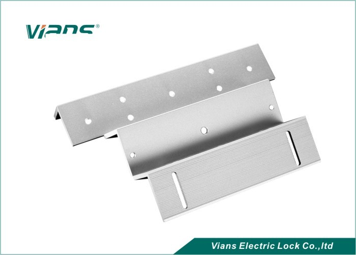 Custom ZL Shape Magnetic Lock Brackets For Wooden Door / Inward Door