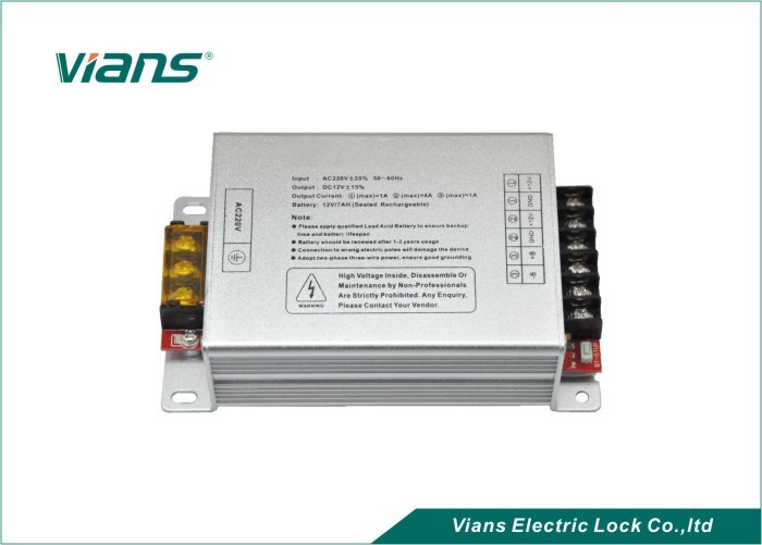 12VDC 3A Access Control Power Supply , Switching Power Supply Aluminum Alloy